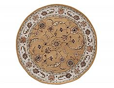 "Dynamic JEWEL Yellow Round 7'10"" X 7'10"" Area Rug JWR870113770 801-70410"