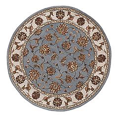 "Dynamic JEWEL Blue Round 7'10"" X 7'10"" Area Rug JWR870231500 801-70419"