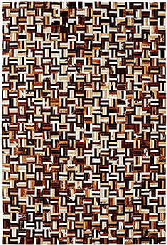 Dynamic LEATHERWORK Brown Rectangle 5x8 ft leather Carpet 70431