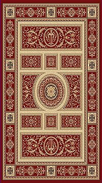 "Dynamic LEGACY Red Runner 2'2"" X 7'7"" Area Rug LE2858021330 801-70460"