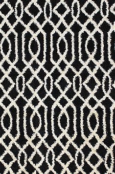 "Dynamic PASSION Black 6'7"" X 9'6"" Area Rug PS7106203190 801-71193"