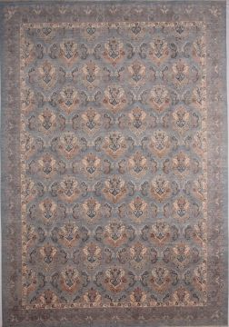 Pakistani Ziegler Blue Rectangle 10x14 ft Wool Carpet 72529