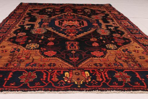 Persian Koliai Blue Rectangle 5x7 Ft Wool Carpet 74315
