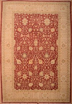 Chobi Red Hand Knotted 12 0 X 18 Area Rug 100 Afghan