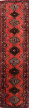 Afghan Karajeh Red Runner 10 to 12 ft Wool Carpet 74569