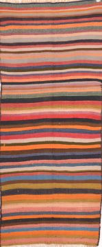 "Kilim Multicolor Runner Flat Woven 4'2"" X 9'1""  Area Rug 100-74652"