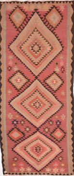 "Kilim Purple Runner Flat Woven 4'9"" X 11'2""  Area Rug 100-74655"