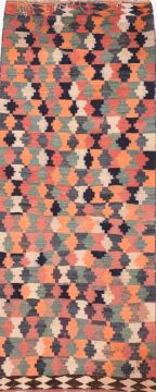 "Kilim Multicolor Runner Flat Woven 4'3"" X 10'8""  Area Rug 100-74662"