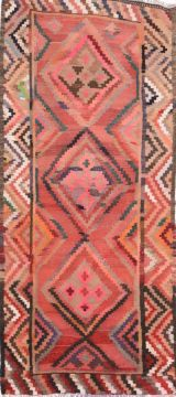 "Kilim Purple Runner Flat Woven 4'4"" X 9'6""  Area Rug 100-74679"