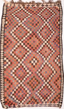 "Kilim Red Flat Woven 5'7"" X 10'6""  Area Rug 100-74695"