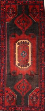 Persian Hamedan Red Runner 10 to 12 ft Wool Carpet 74733