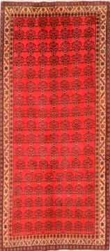 "Zanjan Red Runner Hand Knotted 4'2"" X 9'3""  Area Rug 100-74736"