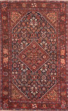 "Mussel Red Hand Knotted 3'10"" X 6'2""  Area Rug 100-74761"