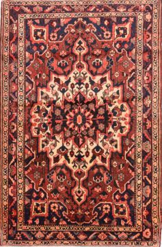 "Mussel Red Hand Knotted 4'6"" X 6'10""  Area Rug 100-74766"