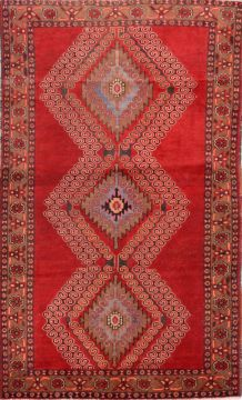 Persian Baluch Red Rectangle 4x6 ft Wool Carpet 74767