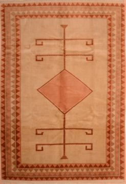 Romania Shiraz Orange Rectangle 6x9 ft Wool Carpet 74860