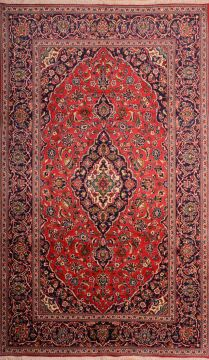 "Kashan Red Hand Knotted 6'7"" X 11'1""  Area Rug 100-74866"