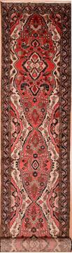 Persian Hamedan Red Runner 10 to 12 ft Wool Carpet 74889