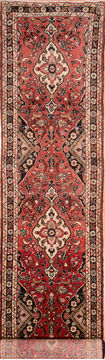 Persian Hamedan Red Runner 13 to 15 ft Wool Carpet 74891