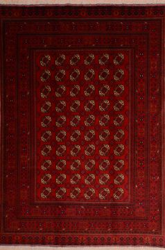 "Khan Mohammadi Red Hand Knotted 6'6"" X 9'5""  Area Rug 100-75172"