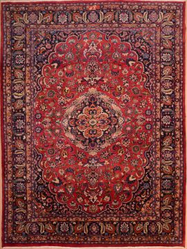 "Mashad Red Hand Knotted 8'2"" X 11'0""  Area Rug 100-75321"