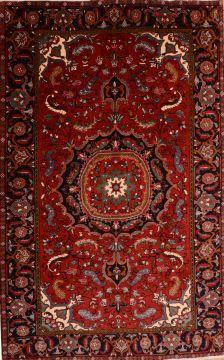 "Heriz Red Hand Knotted 7'0"" X 11'3""  Area Rug 100-75328"