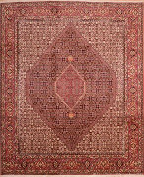 Persian Bidjar Red Rectangle 8x10 ft Wool Carpet 75370