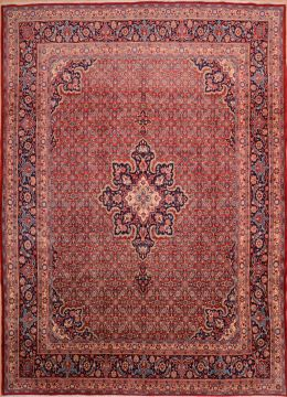"Sanandaj Red Hand Knotted 8'0"" X 12'2""  Area Rug 100-75382"