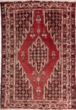 "Mazlaghan Multicolor Hand Knotted 4'3"" X 6'3""  Area Rug 155-75435"