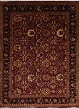 Agra Multicolor Hand Knotted 8 10 X 11 Area Rug 155 Indian