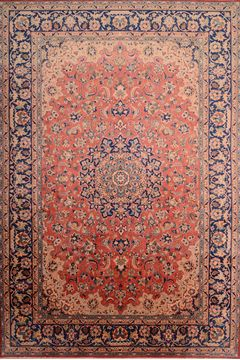 Persian Najaf-abad Red Rectangle 9x13 ft Wool Carpet 75984