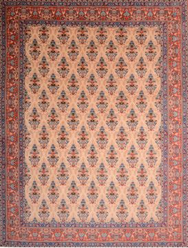 "Qum Red Hand Knotted 9'10"" X 12'10""  Area Rug 100-75991"