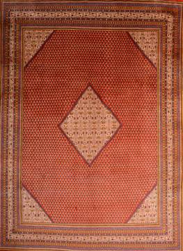 Persian botemir Red Rectangle 10x13 ft Wool Carpet 76011