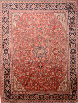Persian Mahal Red Rectangle 10x14 ft Wool Carpet 76021