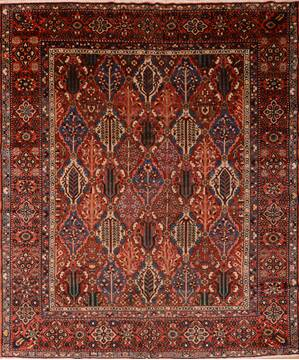 "Bakhtiar Red Hand Knotted 10'4"" X 12'2""  Area Rug 100-76175"