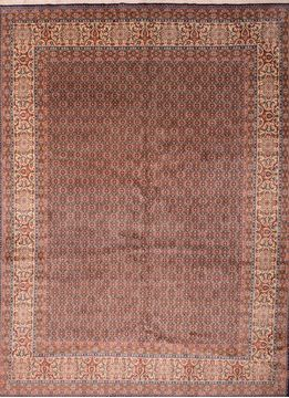 "Mood Beige Hand Knotted 9'8"" X 13'0""  Area Rug 100-76180"