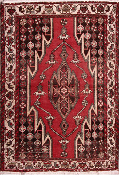 "Mazlaghan Multicolor Hand Knotted 4'3"" X 6'3""  Area Rug 155-76224"