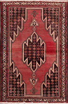 "Mazlaghan Multicolor Hand Knotted 4'2"" X 6'2""  Area Rug 155-76225"