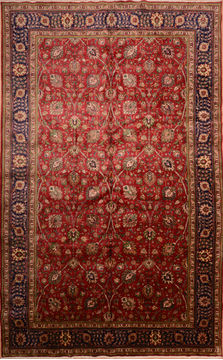 "Tabriz Red Hand Knotted 9'11"" X 15'10""  Area Rug 100-76244"