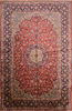 Isfahan Red Hand Knotted 911 X 153  Area Rug 100-76246 Thumb 0