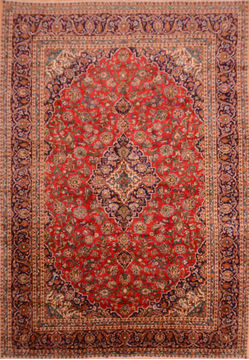 Persian Ardakan Red Rectangle 10x14 ft Wool Carpet 76291