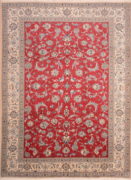 "Nain Blue Hand Knotted 8'0"" X 11'1""  Area Rug 100-76296"