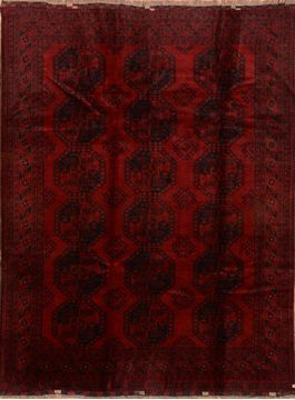 "Kunduz Red Hand Knotted 7'4"" X 9'7""  Area Rug 100-76411"
