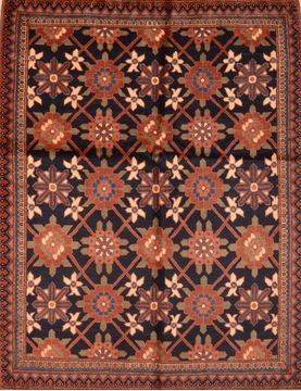 "Kunduz Brown Hand Knotted 5'0"" X 6'4""  Area Rug 100-76414"