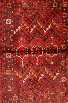 Kunduz Red Hand Knotted 3 4 X 5 Area Rug 253