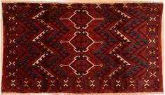 "Baluch Red Hand Knotted 3'5"" X 5'7""  Area Rug 100-76433"