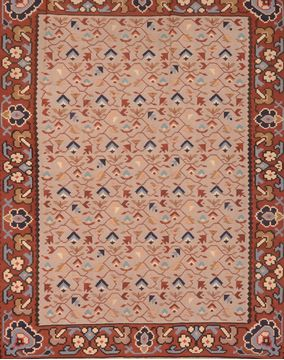 "Kilim Grey Hand Knotted 6'7"" X 8'10""  Area Rug 100-76453"