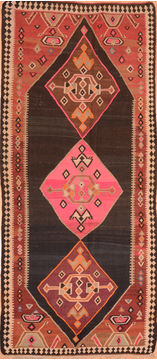 "Kilim Red Hand Knotted 4'8"" X 7'8""  Area Rug 100-76468"