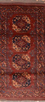 "Baluch Red Runner Hand Knotted 3'3"" X 6'8""  Area Rug 100-76523"