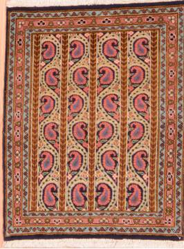 "Qum Red Hand Knotted 2'5"" X 3'1""  Area Rug 100-76570"